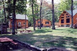 The cabins at Three D's Resort, Eagle River, Wisconsin